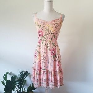 Old Navy Pink Floral Strappy Sundress XL